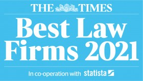 Macdonald Henderson Named In The Times Best Law Firm 2021 for the first time - 11th January 2021 - Click for larger version